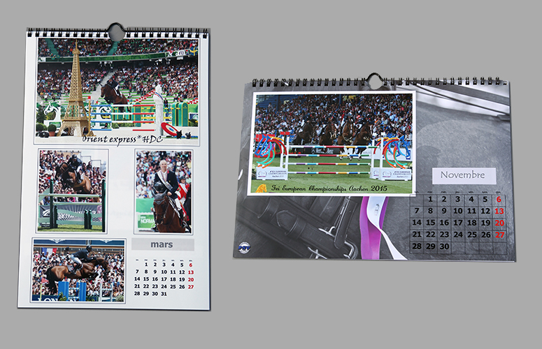 Calendrier mensuel 20x30 80 ou 30x40 130 psv photo - Calendrier salon paris ...